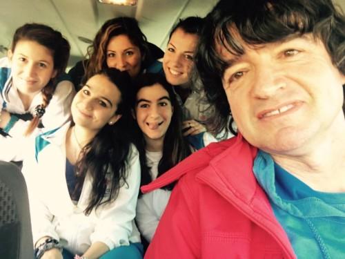 Tennis Club Faenza - L'allenatore Mirko Sangiorgi e le 5 componenti del Tc Faenza di Serie A2 femminile